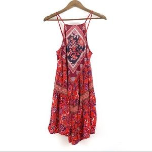 American Eagle red floral dress, Size S